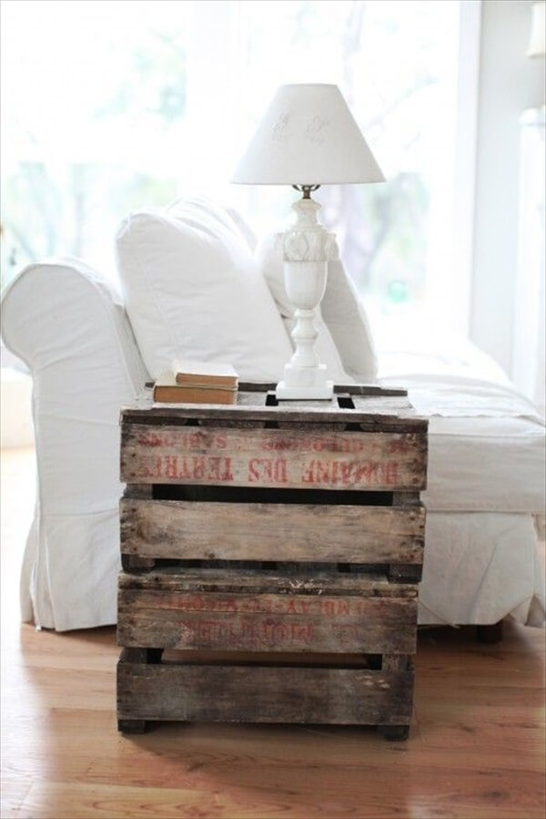 Beautify Your Home With Wooden Crate Furniture Pallet