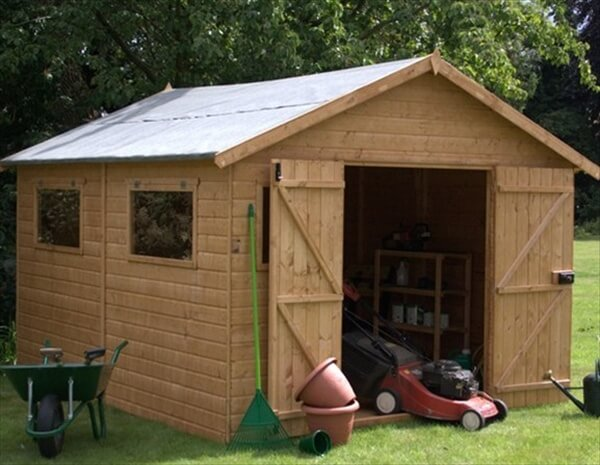How to make a wooden pallet shed