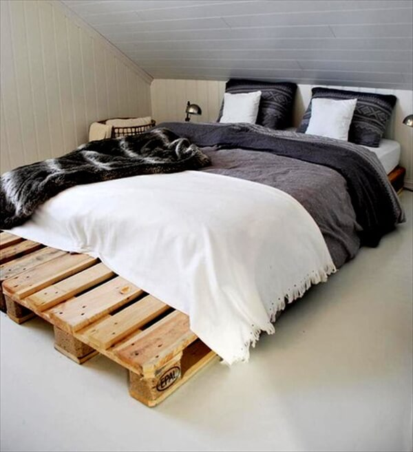 Discover Your Creativity A Pallet Bed Pallet Furniture Diy