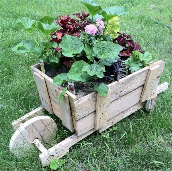 pallet-furniture-wheel-barrel-planter