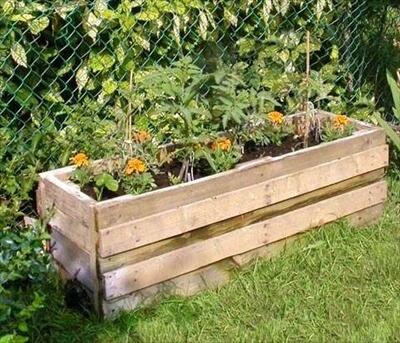 Pallet garden container