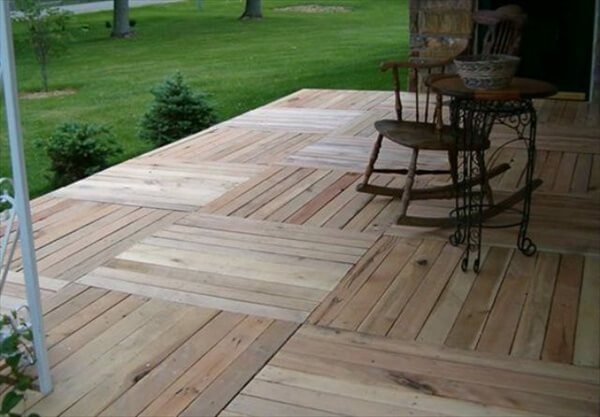 Pallet Patio Deck Unique Use Of Pallet