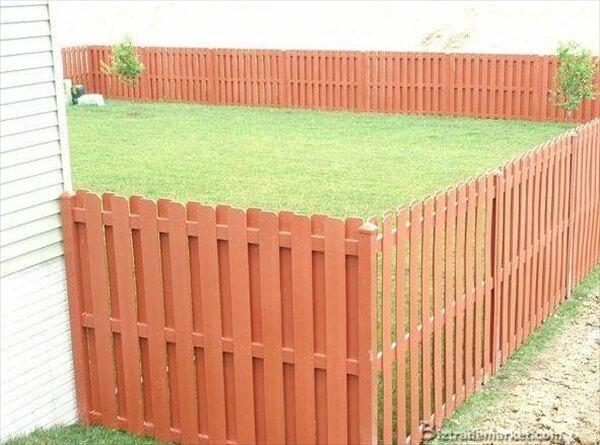 pallet fence for garden