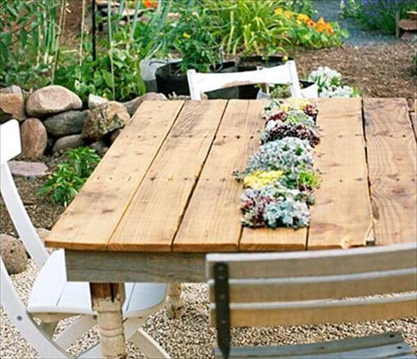 pallet garden table offer countless purposes pallet