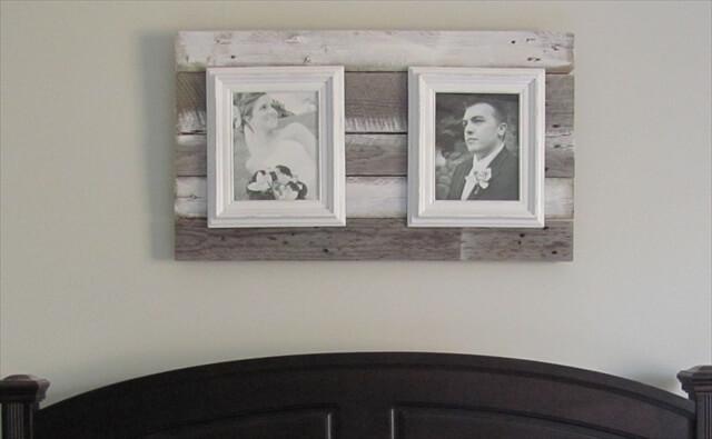 Pallet photo frame