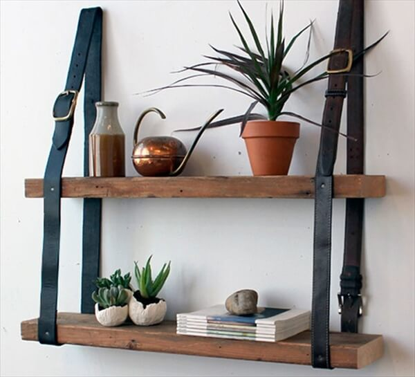 pallet shelves for garden