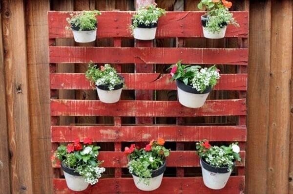 pallet pots garden