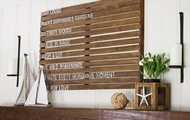 Wooden Wall Decor Diy : Pallet wall art and decor ideas furniture diy