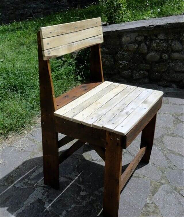 pallet chair build pallet furniture