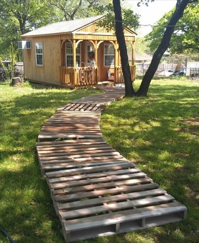 Wood Walkways Easy To Build : Gravel and pallet garden ideas photograph wooden wa