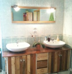 Inexpensive and Charming Pallet Bathroom Furniture