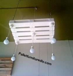 diy pallet light