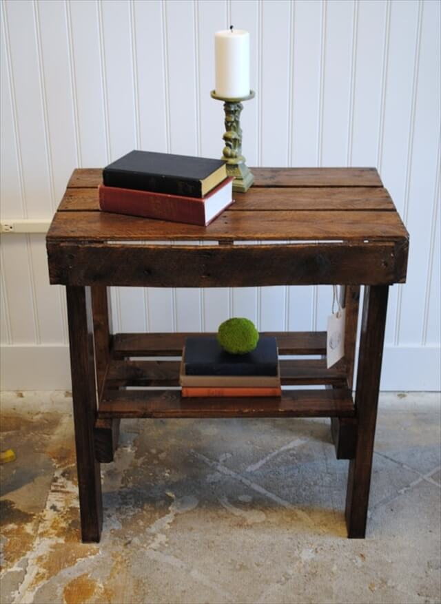 How To Make End Tables From Pallets Plans Diy Free