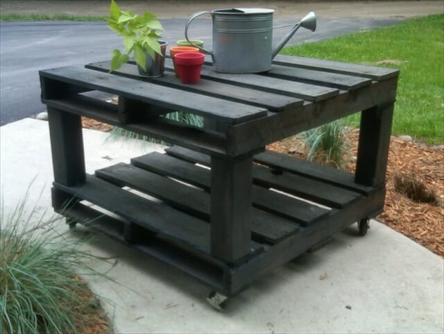 14 Different Ideas On Pallet Tables Pallet Furniture Diy