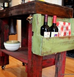 Pallet Island Table Best for Kitchen Use