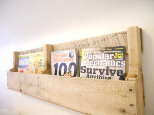 pallet magazine rack instructions pallet furniture diy