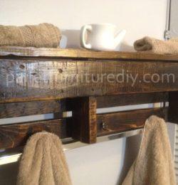 Pallet Wood Shelf - Coat Rack