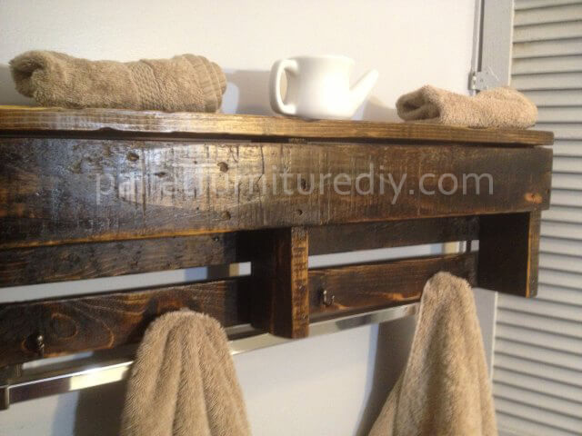 Pallet Wood Shelf - Coat Rack