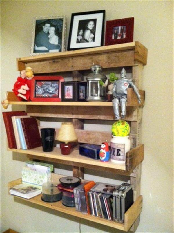DIY Pallet Book Shelf