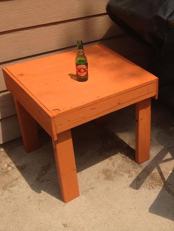 pallet end table plans