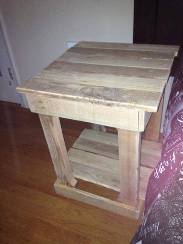 Shipping Pallet End Tables Do It Yourself Pallet