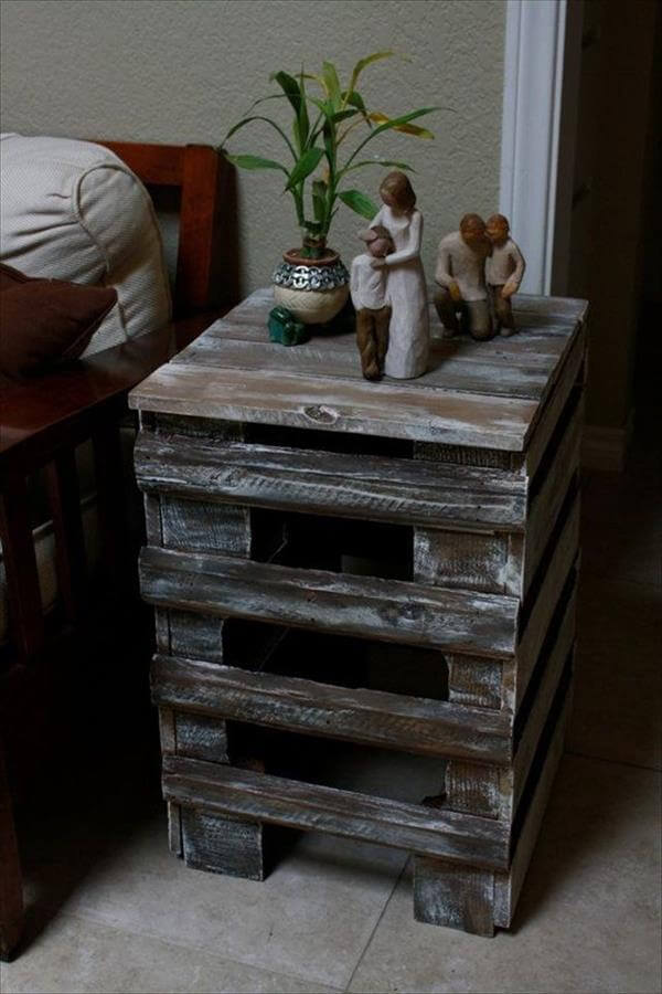 Shipping Pallet End Tables Do it yourself | Pallet Furniture DIY
