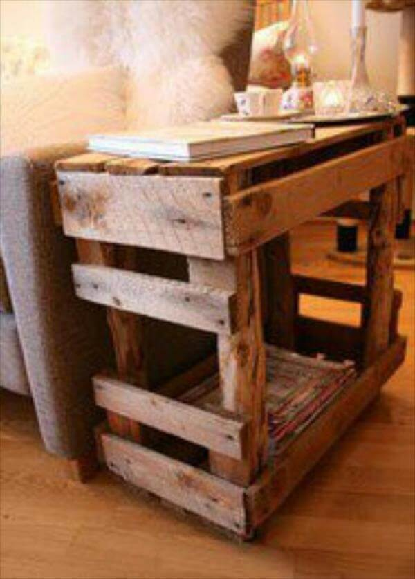Shipping Pallet End Tables Do It Yourself