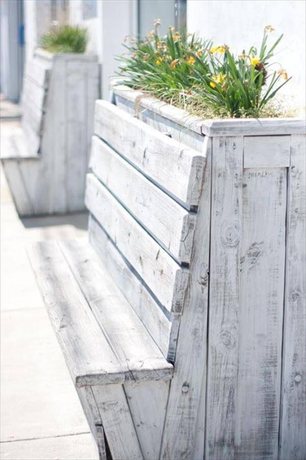 beautiful pallet wood planter