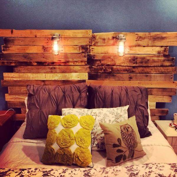 DIY Pallet Headboard Ideas