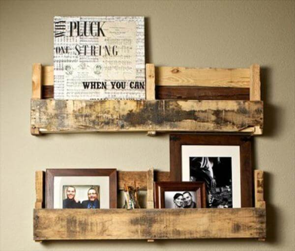 12 Diy Wooden Shelves Made From Pallets