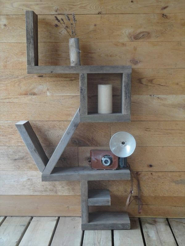 pallet wall decorative shelf