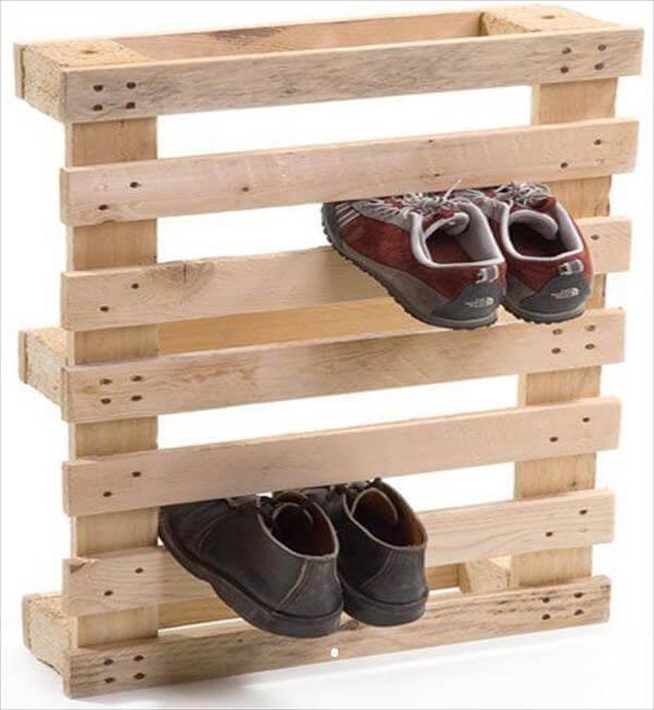 pallet shoes rack fashion
