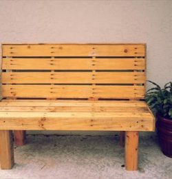 rustic pallet outdoor bench