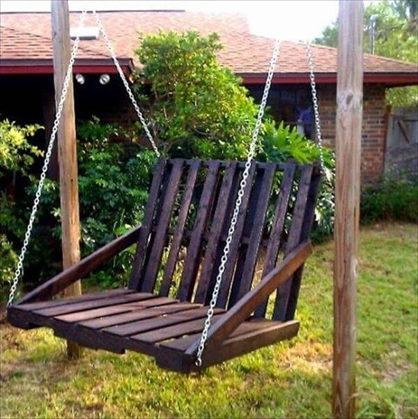chair swing out of pallet