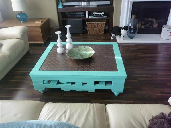 making a coffee table out of pallets - coffee addicts