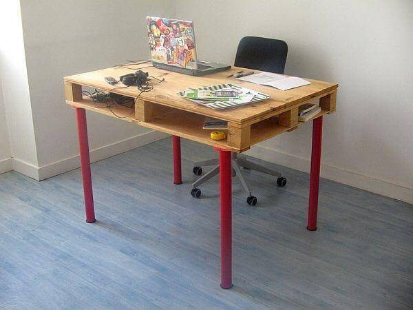 recycled computer desk table