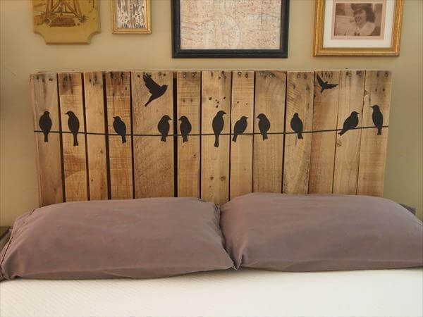 diy pallet headboards project pallet furniture diy. Black Bedroom Furniture Sets. Home Design Ideas