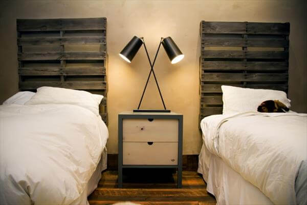 Diy pallet headboards project pallet furniture diy - Fabriquer tete de lit medium ...