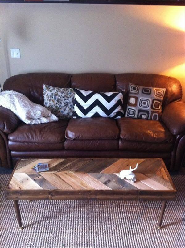 diy pallet sofa side table