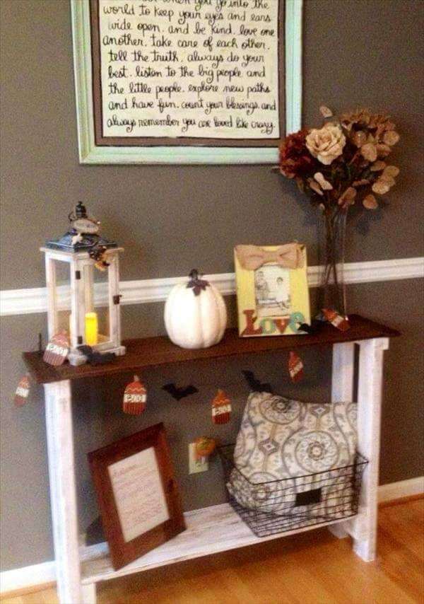 DIY Pallet Console Hall Table Furniture