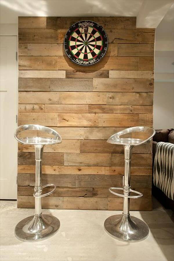 Wood Pallet Wall for living room