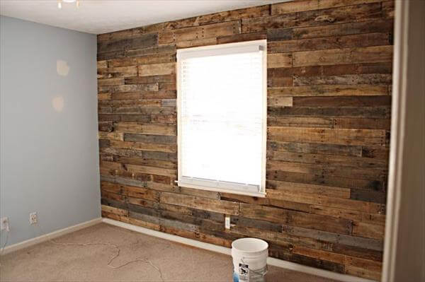16 DIY Wood Pallet Wall Ideas : Pallet Furniture DIY