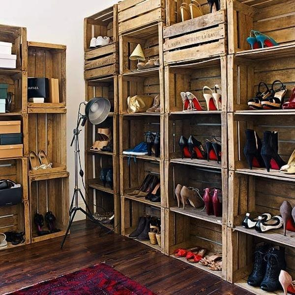 retrieved crate shoes rack