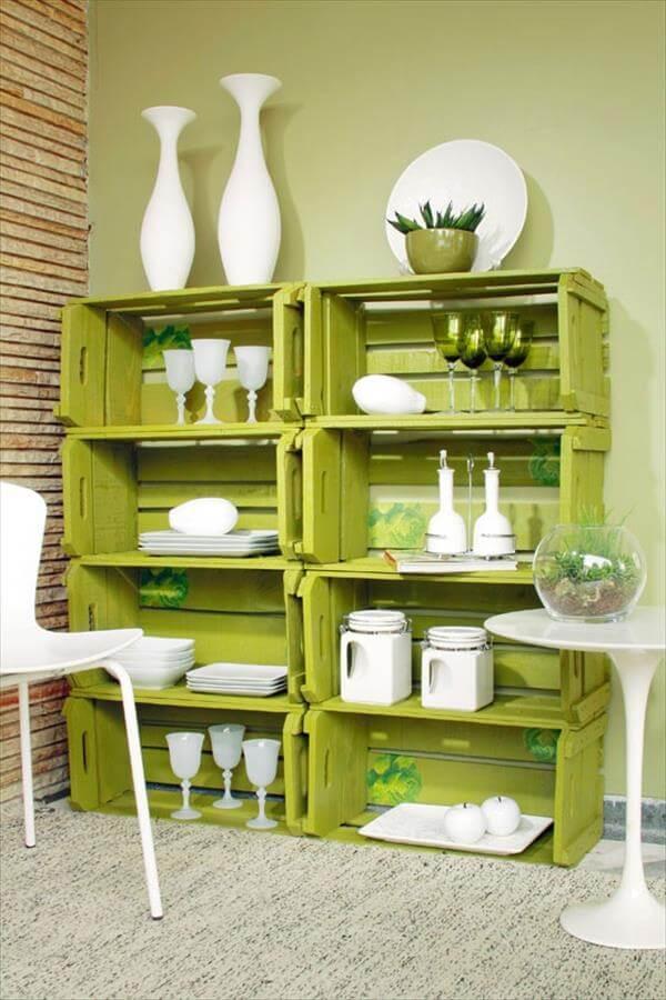 diy  crate household rack