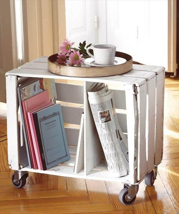 14 diy wooden crate furniture design ideas pallet for How to make a coffee table out of crates