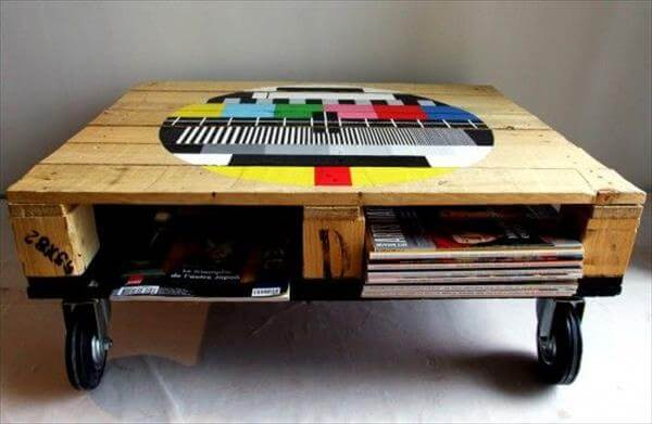 restored pallet coffee table