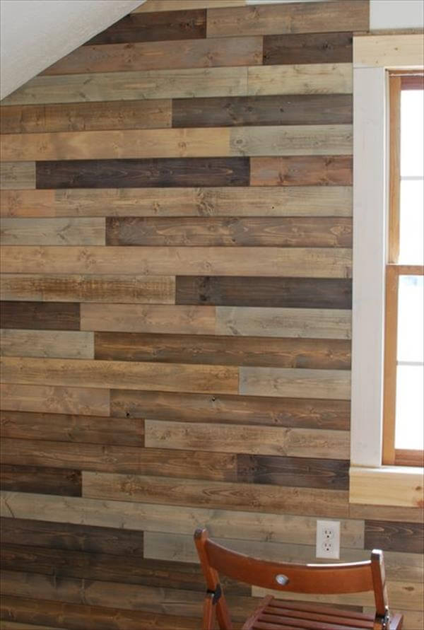 diy pallet wall instructions