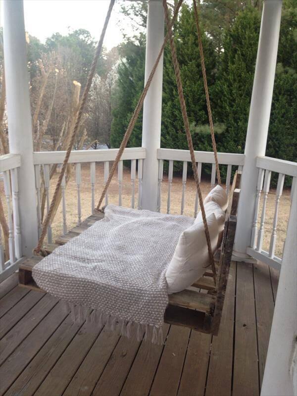 redeemed pallet bed swing
