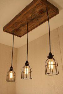 repurposed pallet light chandelier