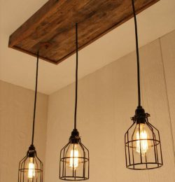 repurposed pallet light chandelier